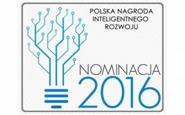 Nominacja do Polskiej Nagrody Inteligentnego Rozwoju 2016